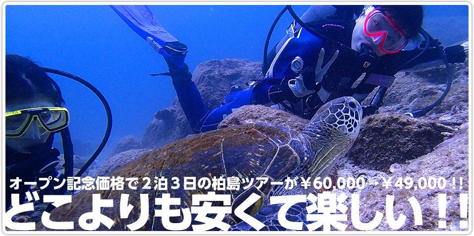どこよりも安くて楽しい!!オープン記念価格で2泊3日の柏島ツアーが¥60,000→¥49,000!!