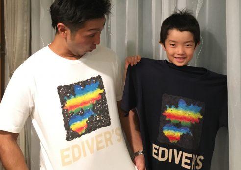Tシャツ作成中〜(^^)
